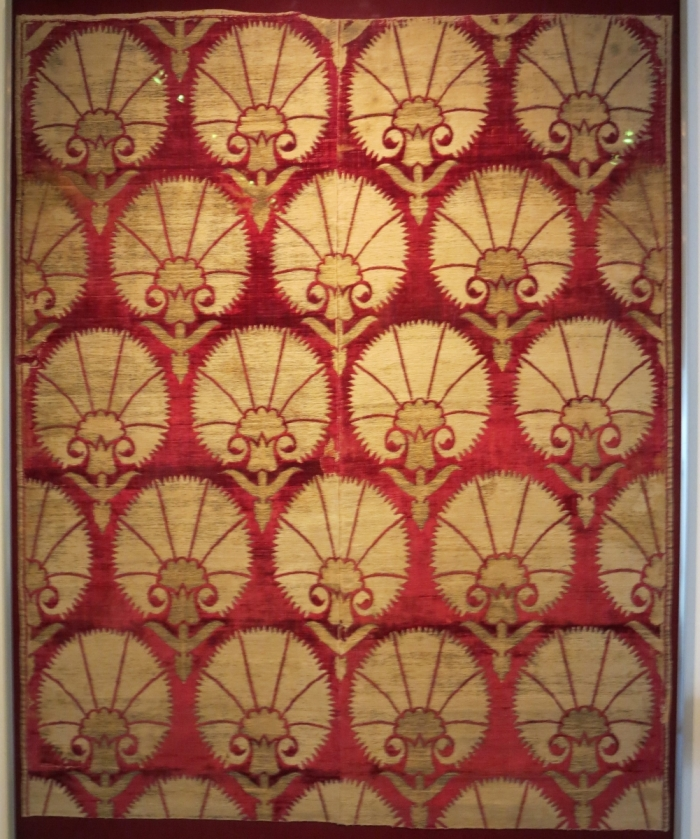 17th century Ottoman Turkish velvet