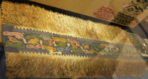 late antique tapestry weave fragment with fringe, Egypt or Near East, Benaki Museum, Athens