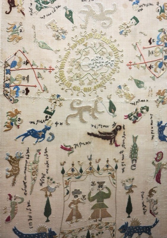 embroidered towel, probably Ioannina, 18th century, Benaki Museum