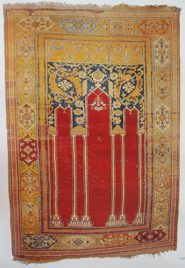 coupled column prayer rug