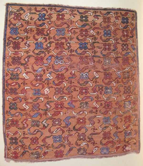 Ushak carpet fragment