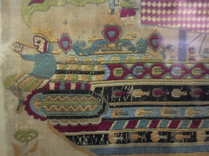 Skyros ship embroidery (detail) 17th century, Benaki Museum