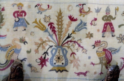 embroidered bed-cover from Skyros, circa 1700, Benaki Museum