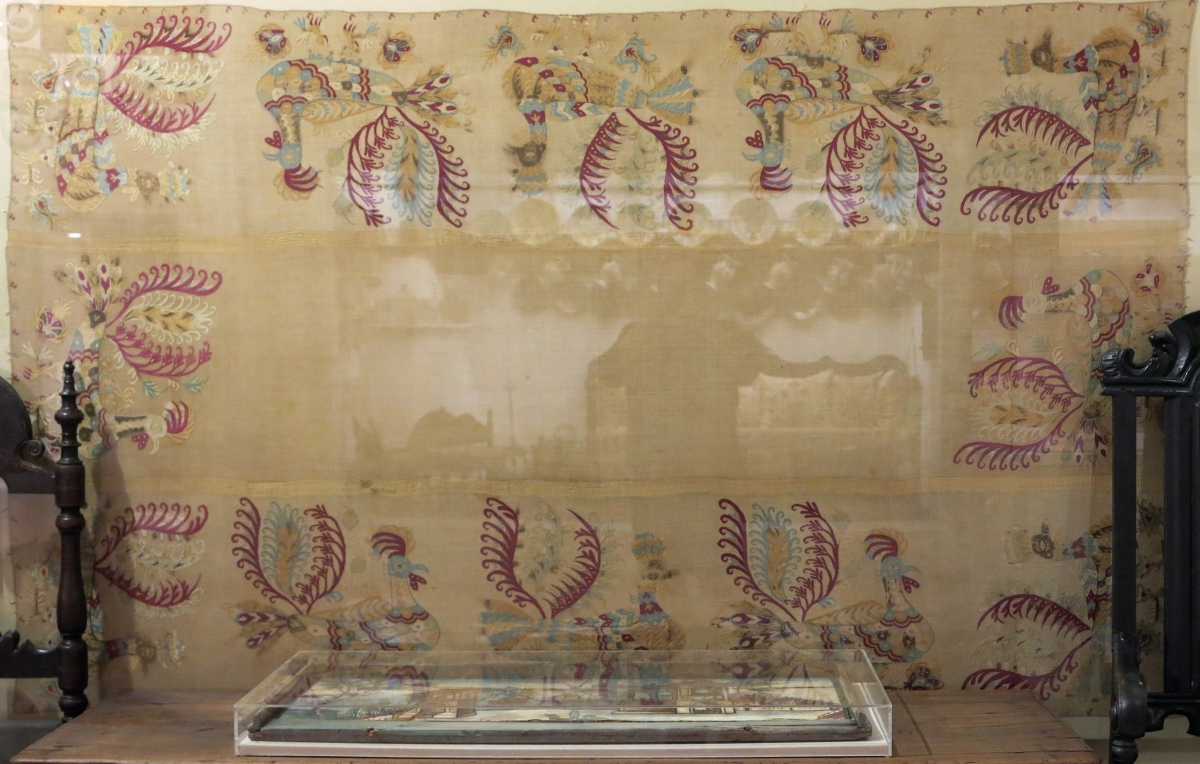 embroidered bead-cover from Skyros, circa 1750, Benaki Museum