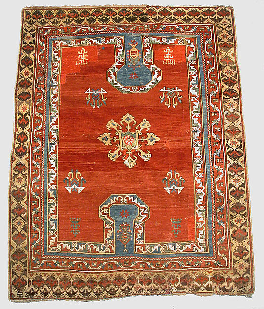 double key hole prayer rug