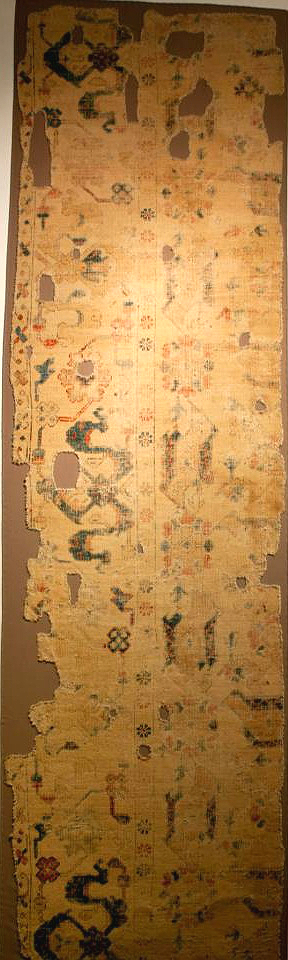 Ushak Bird Carpet fragment