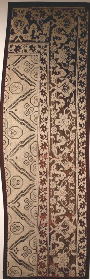 Ushak chintimani carpet fragment