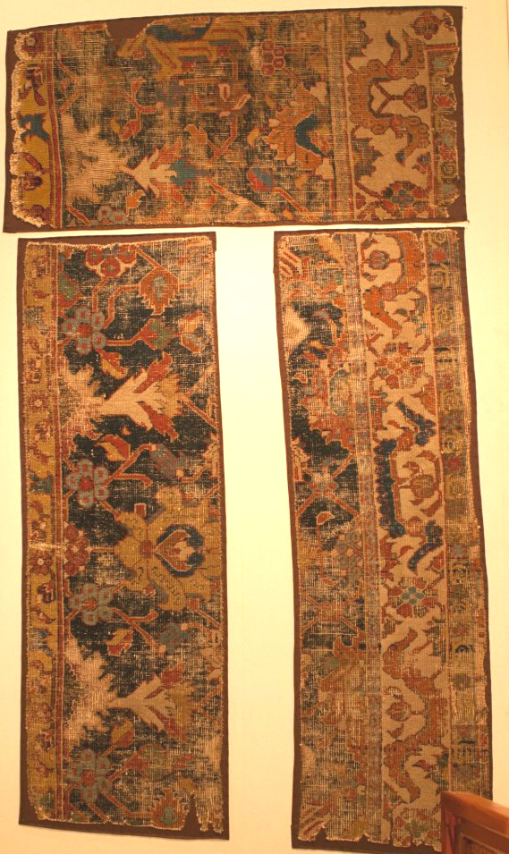 persian or Caucasin rug fragments Konya Museum
