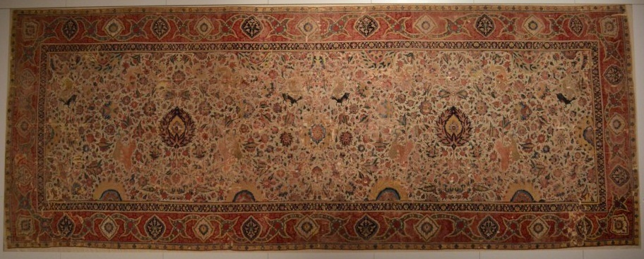 Mughal Spiral Tendril Carpet Berlin Museum