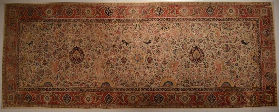 Mughal Spiral Tendril Carpet Berlin Museum