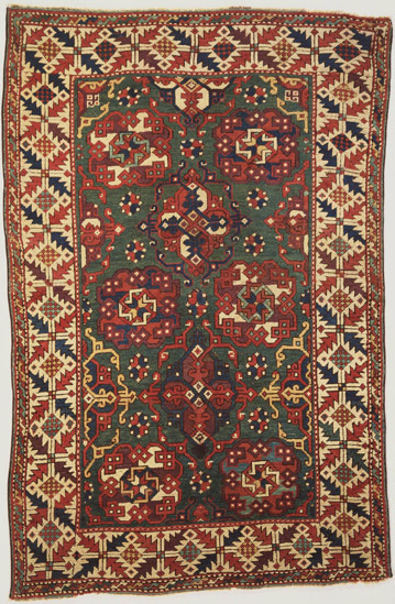 small pattern Holbein rug
