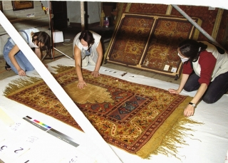 Photographing rugs