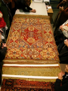 A double-niche Transylvanian rug, Hungarian National Museum, formerly collection