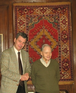 2006 Meeting Edmund de Unger one of the giants of our times. The rug behing come