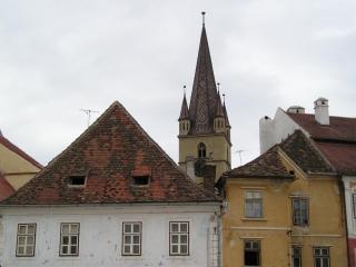Sibiu city skyline