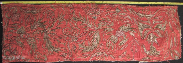 China: Old embroidered jacket panel from the Miao/Dong ethnic group Southwest China, with abstract phoenix and floral pattern. See image for condition and size. Free Shipping