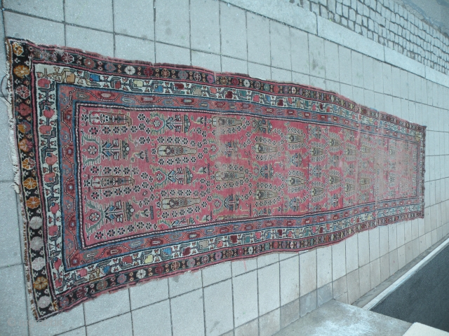 Mazanderan, Antique nw Persian rug 106x400 cm