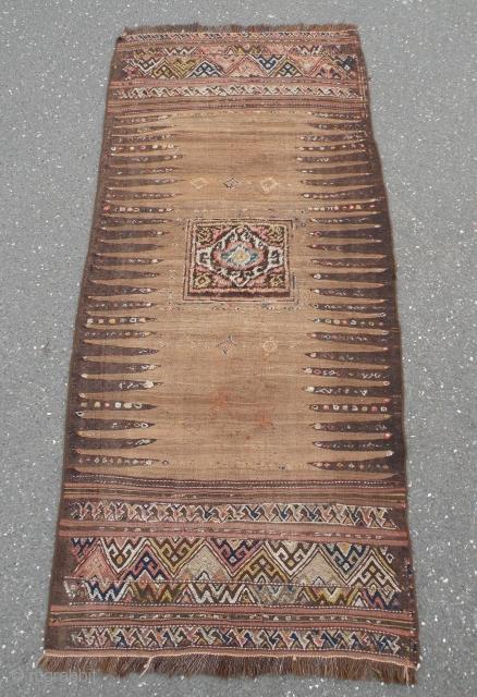 Antique Kordi flatwoven sofreh 88x200 cm
