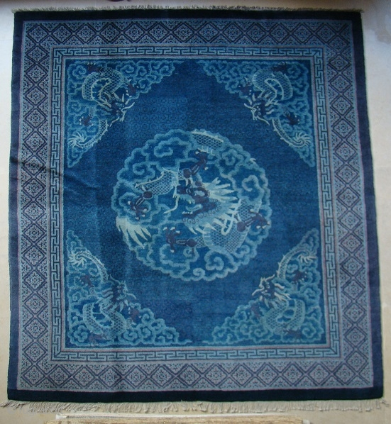 "No: M804, Chinese Antique Rug, Size: 1.70 x 1.55 m/ 5'7"" x 5'1"""