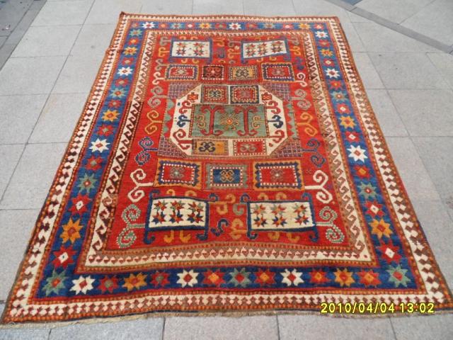 Antıque Caucasian Karacop Carpet size 220x165 cm.