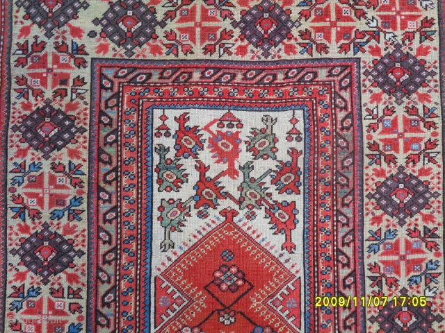 Antique Anatolian Ada Milas Prayer Carpet Size: 145x96 cm.
