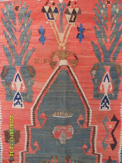 Antıque Anatolian Erzurum Prayer Kelim size: 175x123 cm.