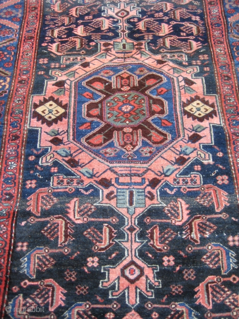 Antique Heriz 100 Wool Carpet Pre 1900 Beautiful Natural
