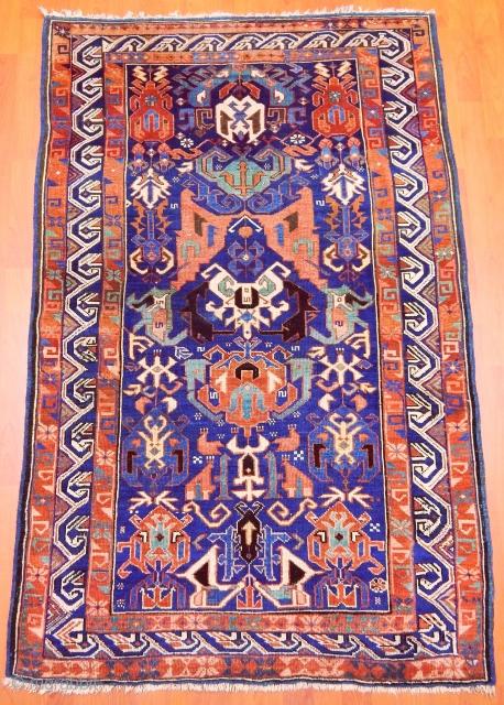 Antique Caucasian Kuba Zeyhur Rug