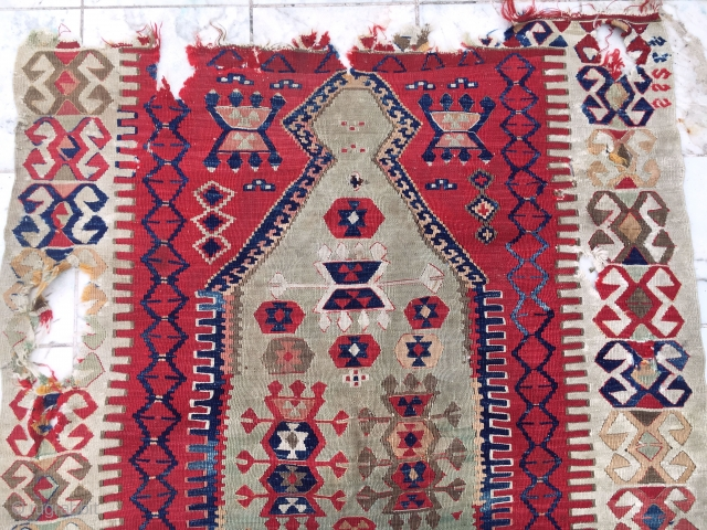 Antique Anatolian prayer Kilim