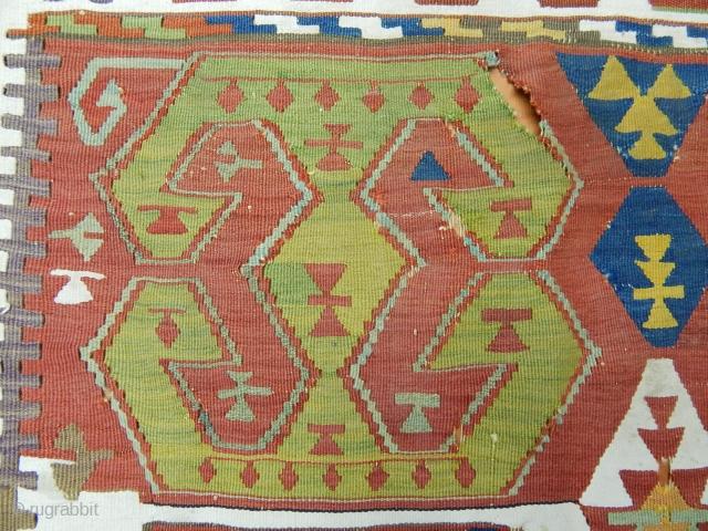 Antique Sought East Antolian Kilim Fragment  size.120x104 cm