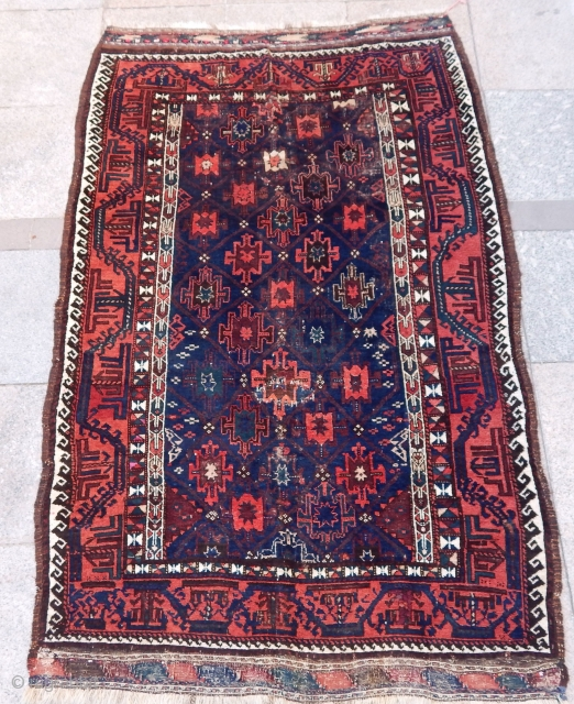 Antique Baluch Rug  Size.190x120cm
