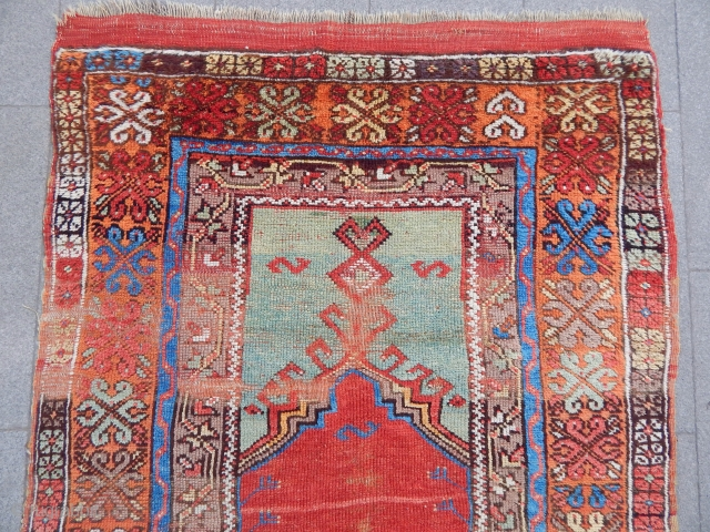 Antique Central Anatolian Prayer Rug
