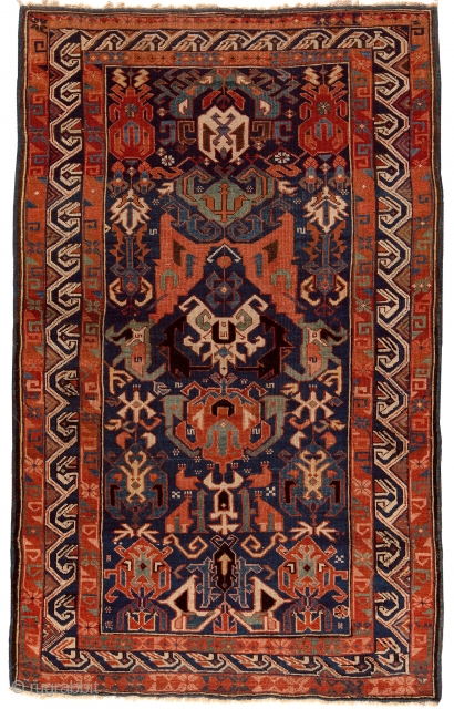 Antique Caucasian Zerhur Rug
