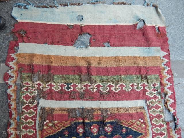 Antique Persian Sustar Kilim