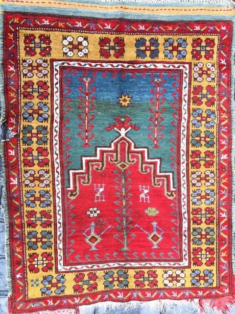 Antique Anatolain Konya Prayer Rug