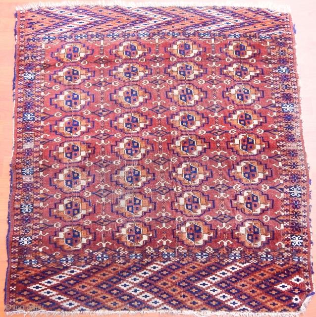 Antique Türkmen Tekke Rug  Size:110x100 cm