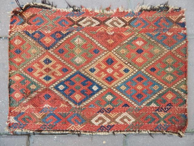 Antique Shahsavan Sumak Face