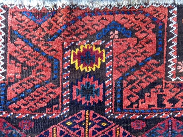 Antique Baluch Double Prayer Rug