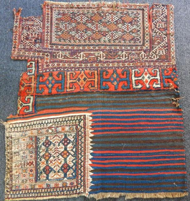 Antique Bahtiyari Chuvals Faces