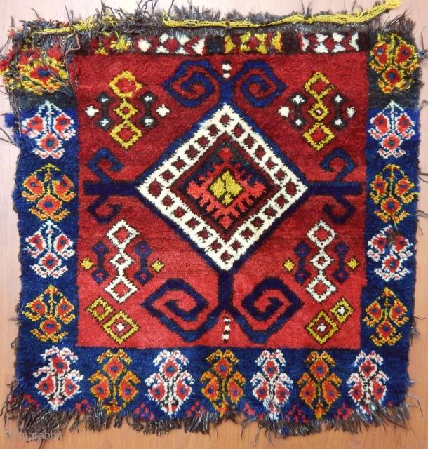 Antique Kırgız Karakalpak Rug Bagface  Size.58x58 cm