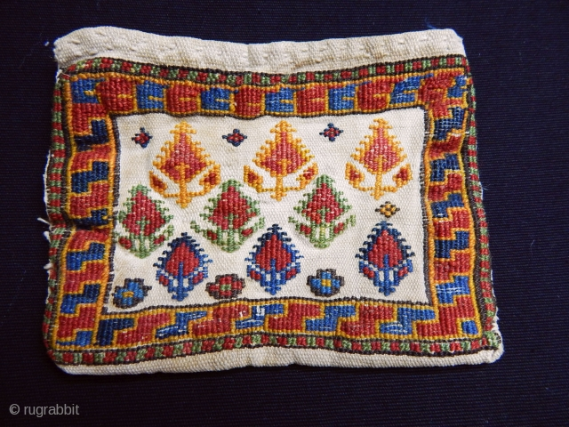 Antique Shahsavan Sumak Bag size.14x18cm
