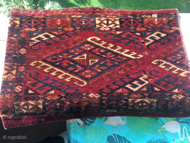 Nice Kizil Ayak or Ersari fragment. Very cute! 44 cm x 32 cm.