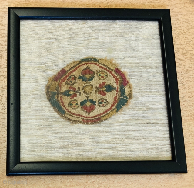 Coptic roundel ca 7 th century good colour and condition 