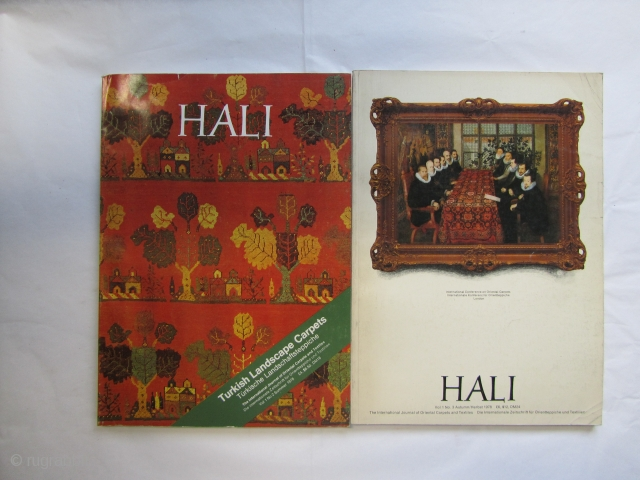 HALI Magazine series: numbers 2-65, only numbers missing are:4,6,8,9 and 11 In very good conditions. Further pictures available upon request. Price includes shipping (non courier)