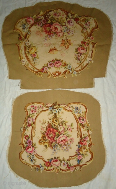 Antique handmade french tapistry cover . Material. silk  Condition. Excellent.