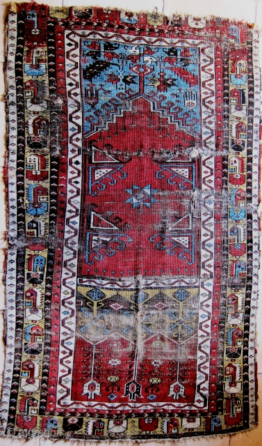 A 19th Century Ladik Prayer Rug 