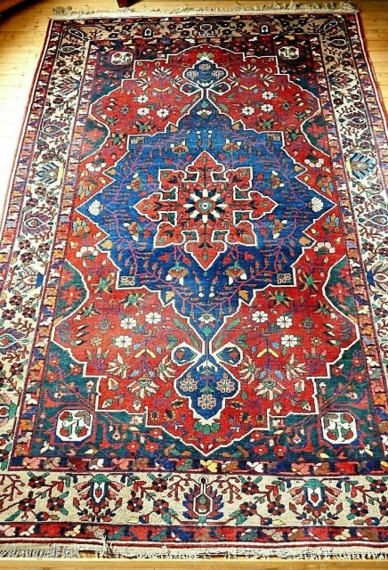 "Beautiful bakhtiari rug around 1920's. Size is 320 x 217 cm / 10'8"" x 7'2"" approx."