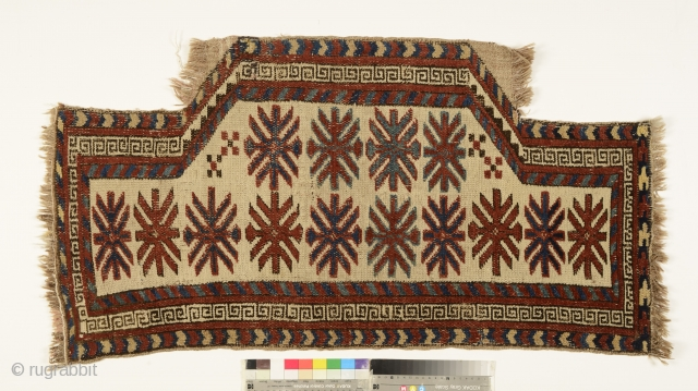 Kyrgyz Saddle Rug, Alai mountains, c. 1880, all-natural dyes, in a museum condition, a rare piece
