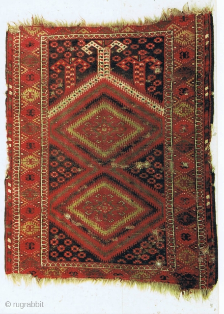 A Baluch prayer rug, late 19th century, 160 x 122cm, all-natural colours, from a rare group of Baluch rugs.