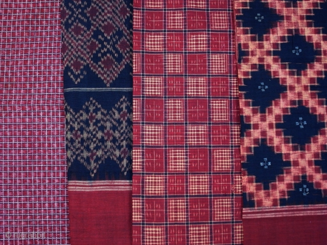 Telia Rumal Set Of 4 Pieces Of Cotton Cloth Natural Dyes